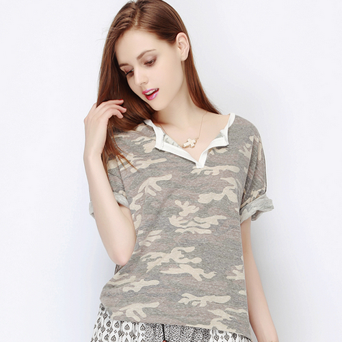 Vintage Camouflage Top