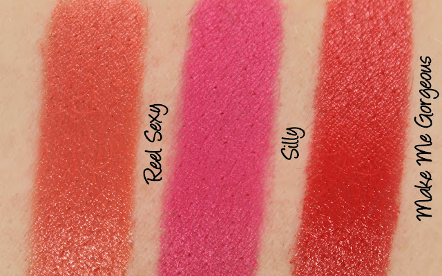 MAC Monday: MAC is Beauty - Reel Sexy, Silly and Make Me Gorgeous Lipstick Swatches & Review