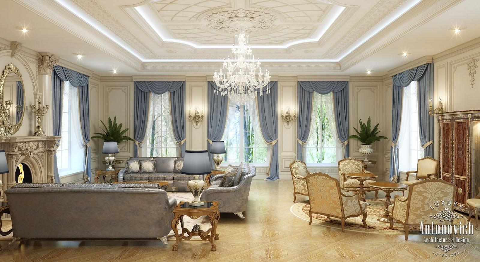 Luxury antonovich design uae villa design in the uae for Living room designs in dubai