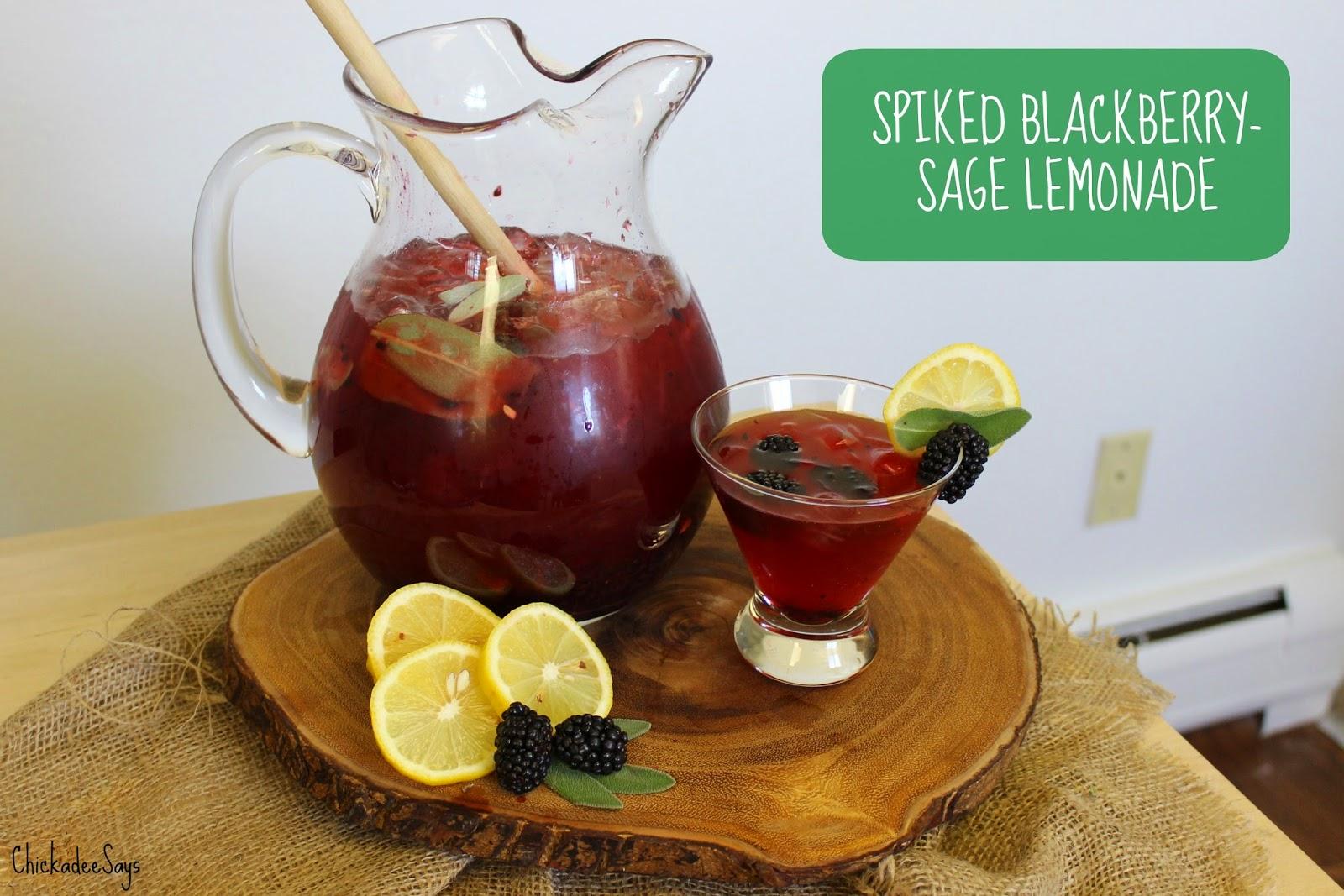 Chickadee Says: Summer Drink Series: Spiked Blackberry-Sage Lemonade