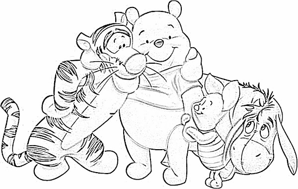 Winnie The Pooh With Honey Pot Coloring Pages