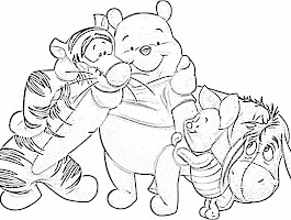 Honey With Pooh Bear Coloring Pages