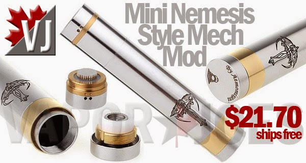 Mini Nemesis Styled Mechanical Mod - 18500/18650