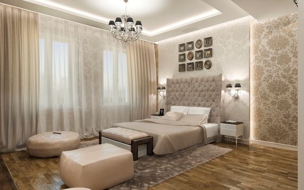 Tapeten Schlafzimmer Romantisch : Dormitorio Matrimonial Elegante en Colores Neutrales Decoraci?n