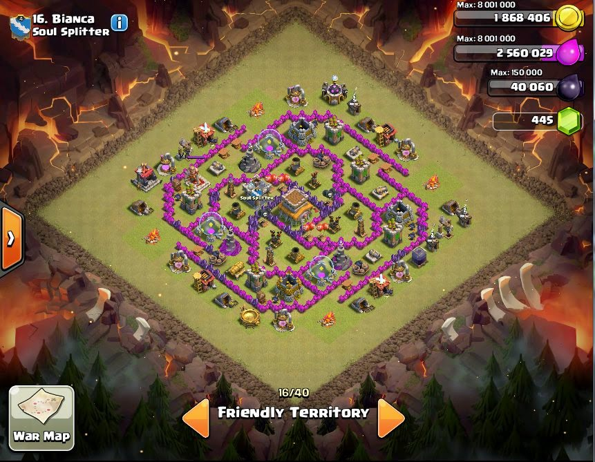 Bianca - COC Clans War Base