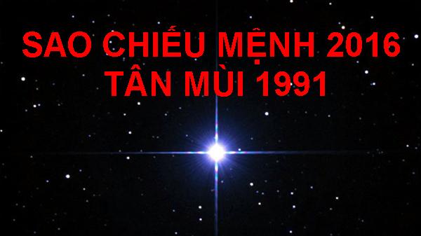 Sao chieu menh 2016 tuoi Tan Mui