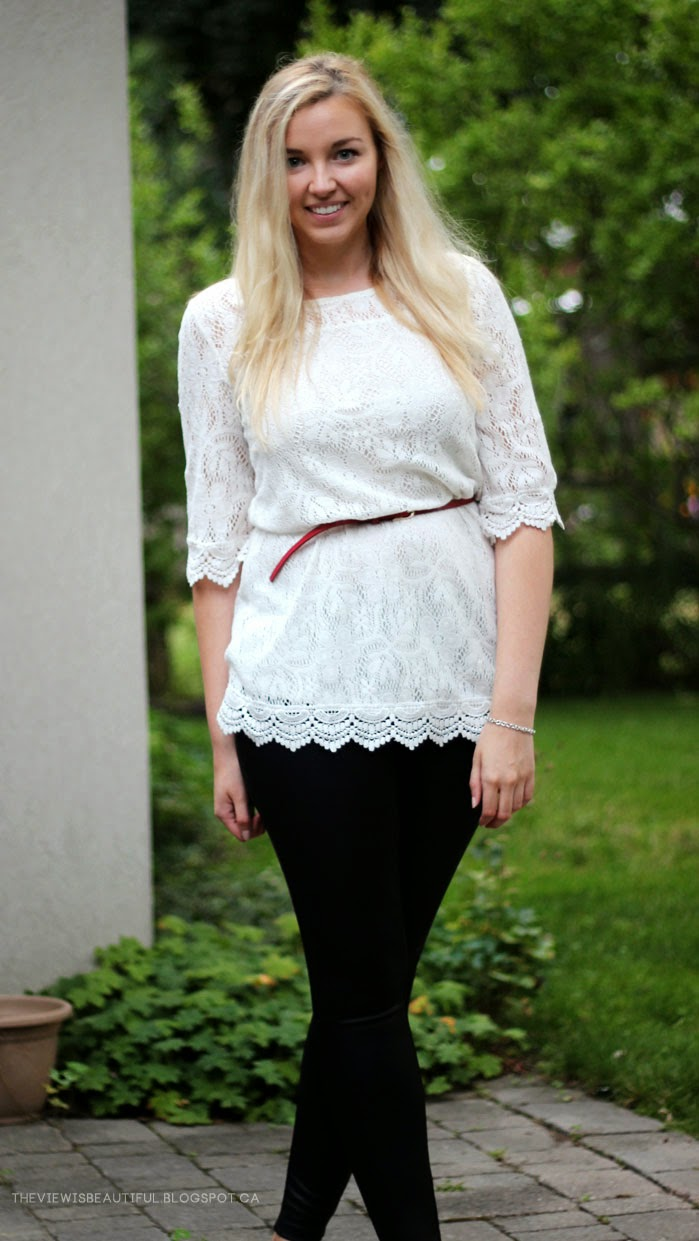 Leather & Lace #Style   www.theviewisbeautiful.blogspot.ca