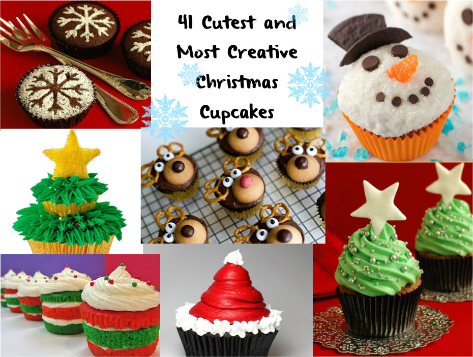 41 Cutest And Most Creative Christmas Cupcakes
