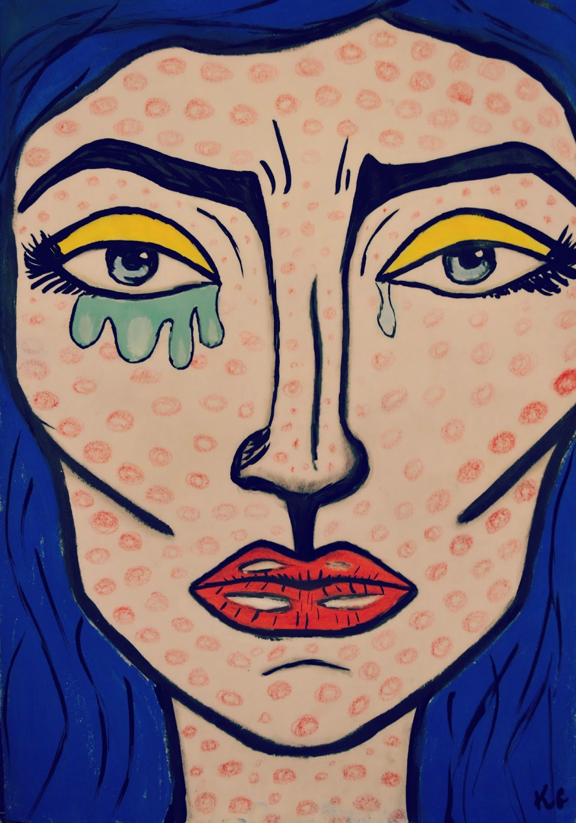comic makeup ,Lichtenstein, pop art