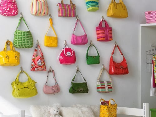 11 ways to organize your purse organizing made fun 11 for Hooks to hang purses