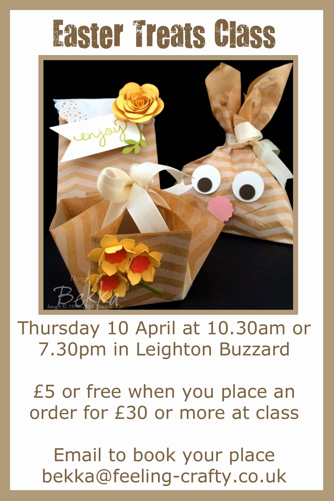 This class looks cute - lovely Easter Treat Packaging! You can book now