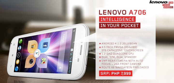 Lenovo A706: Specs, Price and Availability in the Philippines