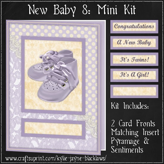 http://www.craftsuprint.com/card-making/mini-kits/mini-kits-new-baby/new-baby-8-pyramage-mini-kit.cfm