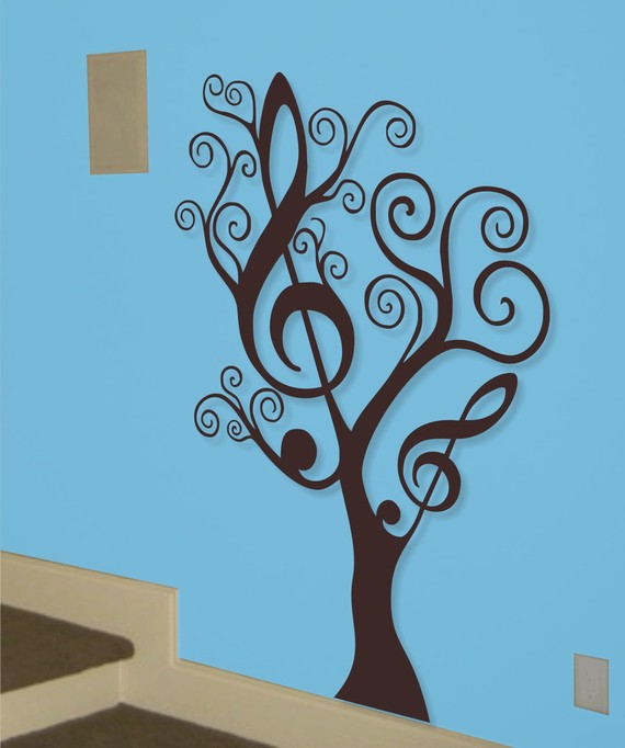 Good company decorating ideas for musicians for Classroom wall mural ideas