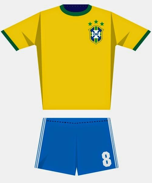 Los Uniformes de las Selecciones del Mundial Brasil 2014, Brasil, II Parte