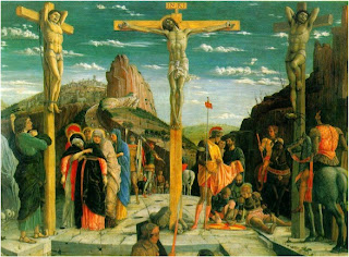 Andrea Mantegna (c.1431-1506) The Crucifixion Mantegna's concern with sculptural beauty here outweighs his compassion for Christ's agonies.