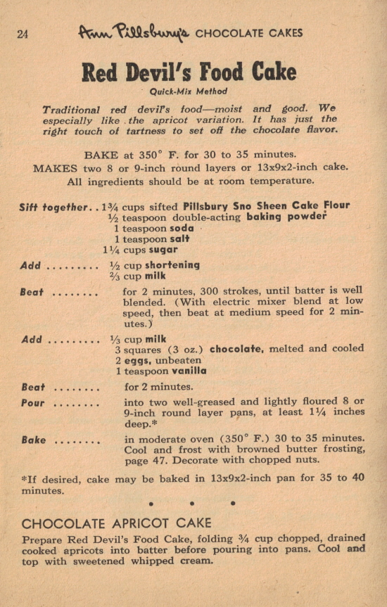 Difference Between Devils Food Cake And Chocolate
