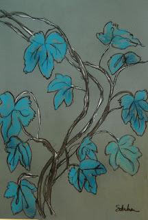 botanical art   collect this art work at http://www.imagekind.com/Grape-Vine_art?IMID=4790f4b4-7a92-42f8-876f-30c38bfed773