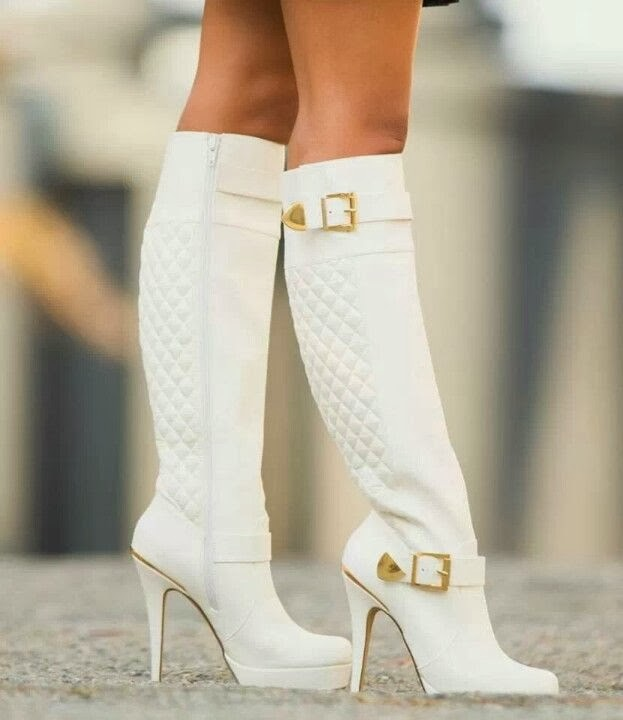 Lovely White Boots