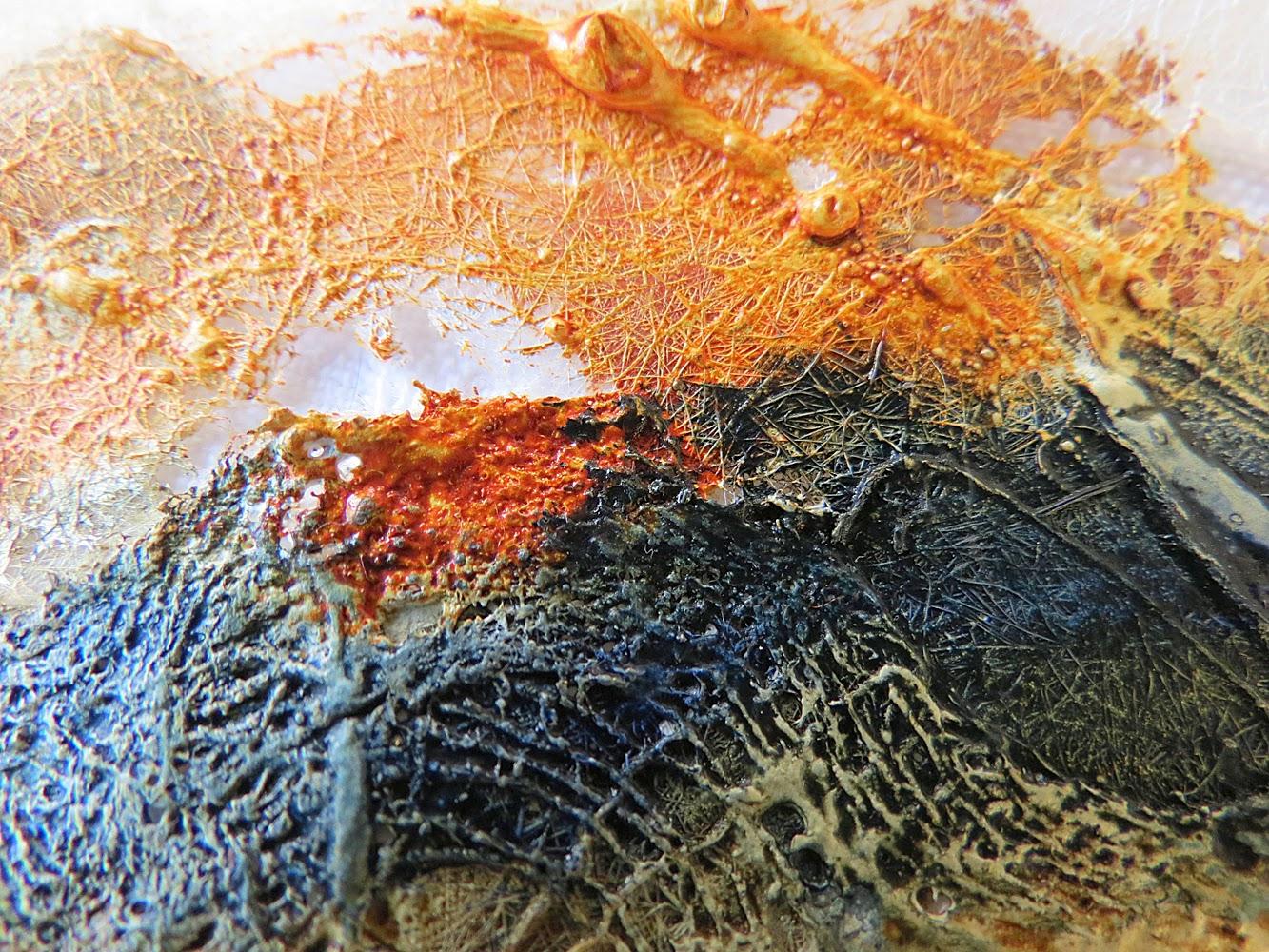 Carolyn Saxby Mixed Media Textile Art Seed Head Rambles