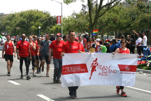 T2 Team End AIDS LA Pride Parade 2013