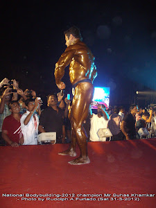 "Mr Suhas.Khamkar,winner of ""India Classic Bodybuilding-2012"""