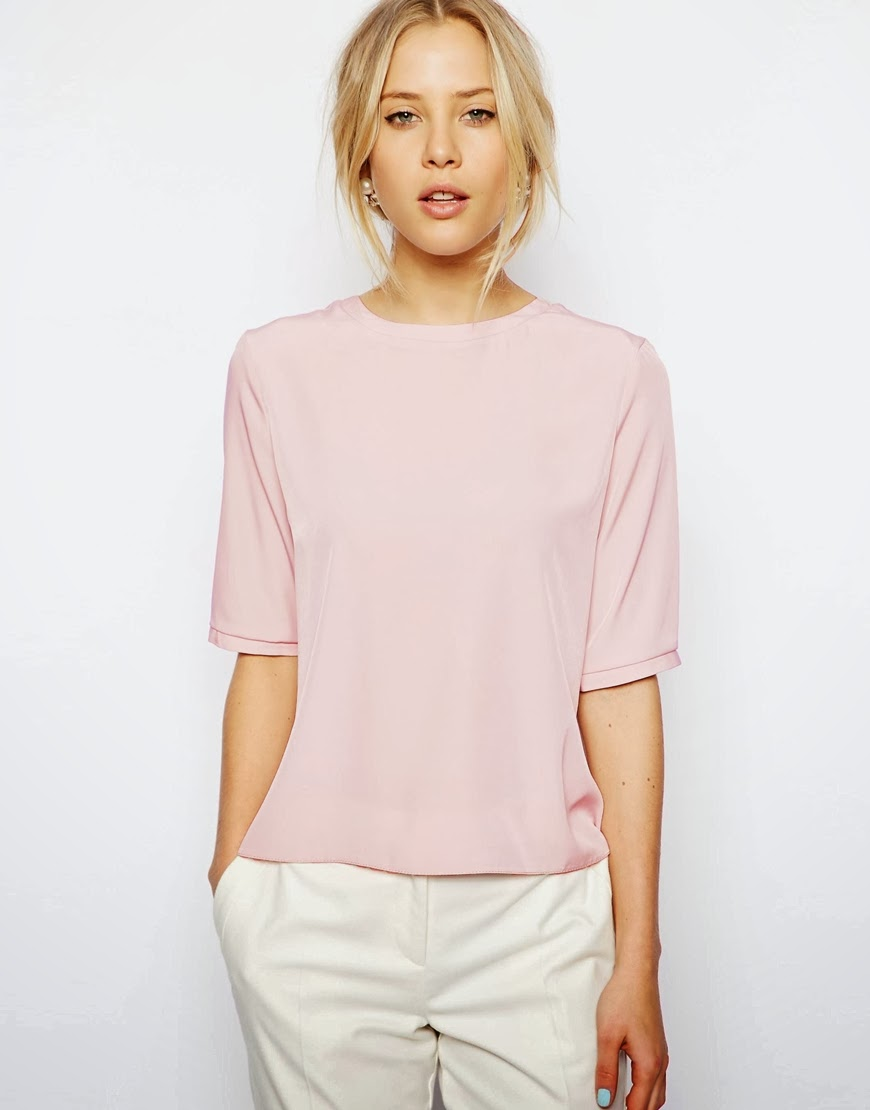 asos pale pink top