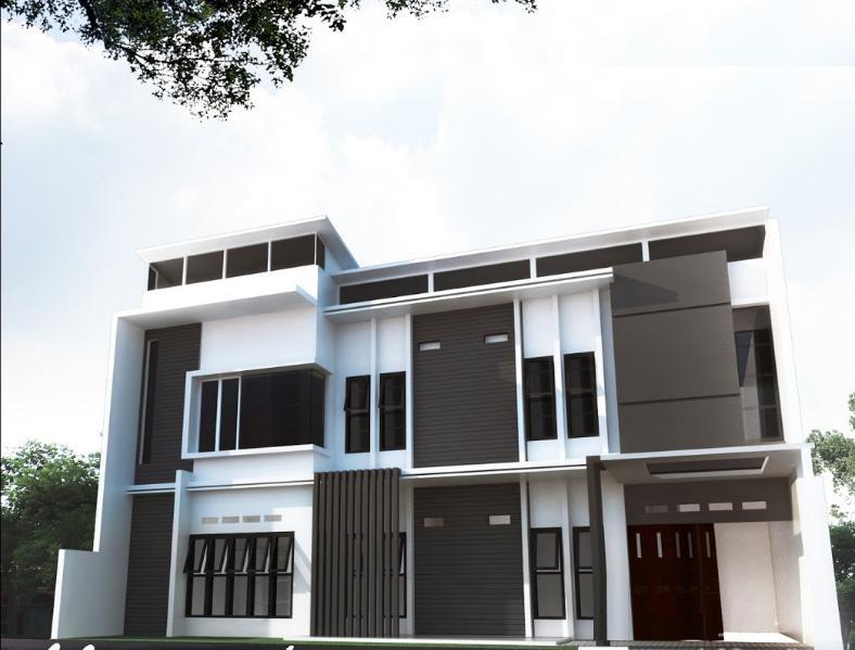 Jasa Desain Fasad Bangunan Rumah Kos Konsep Minimalis Modern & JASA DESAIN RUMAH MURAH: Jasa Desain Fasad Bangunan Rumah Kos ...