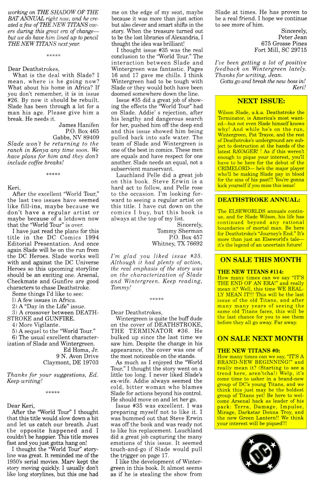 Deathstroke (1991) Issue #40 #45 - English 28