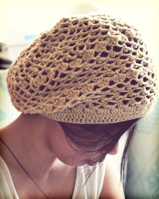 Free Crochet Pattern For Slouchy Beret : Crochet Pattern: Lace Beret