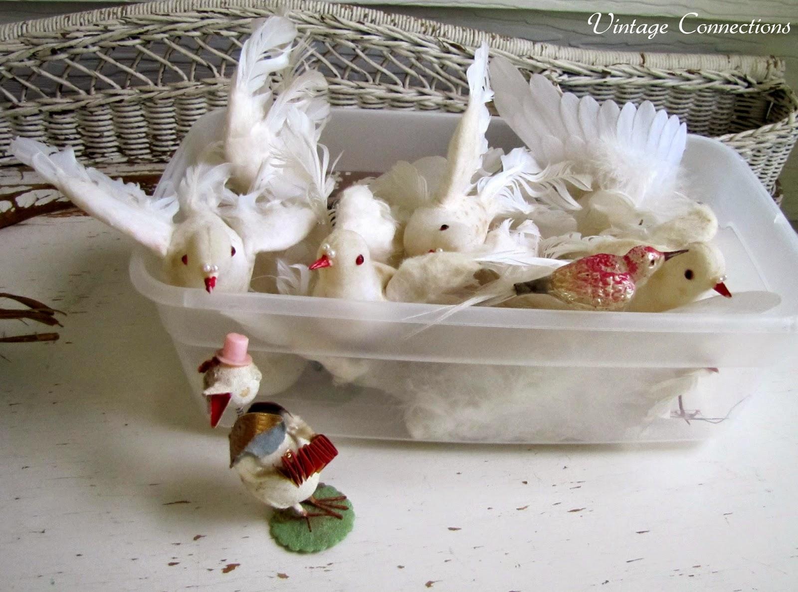 White dove christmas ornaments - 1pc 2014 Sept Picking Treasures Vintage White Birds Vintage Glass Bird Ornament Vintage Japan Standing Duck Jpg