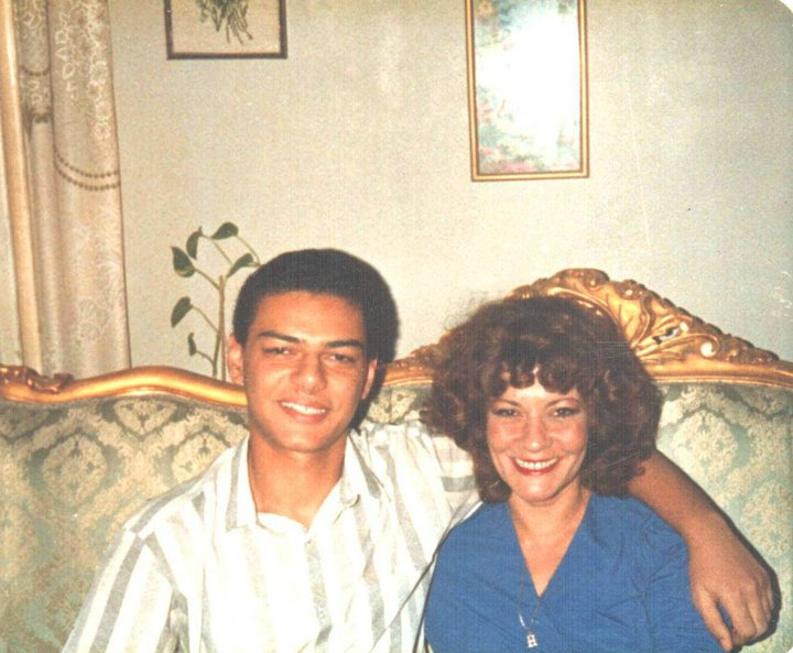 Hany and I; when Hany was 18 years old