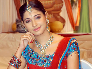 Tamannah_bhatia in bridal make up looking so sexy