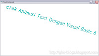 Cara Membuat Animasi Text Dengan Visual Basic 6.0