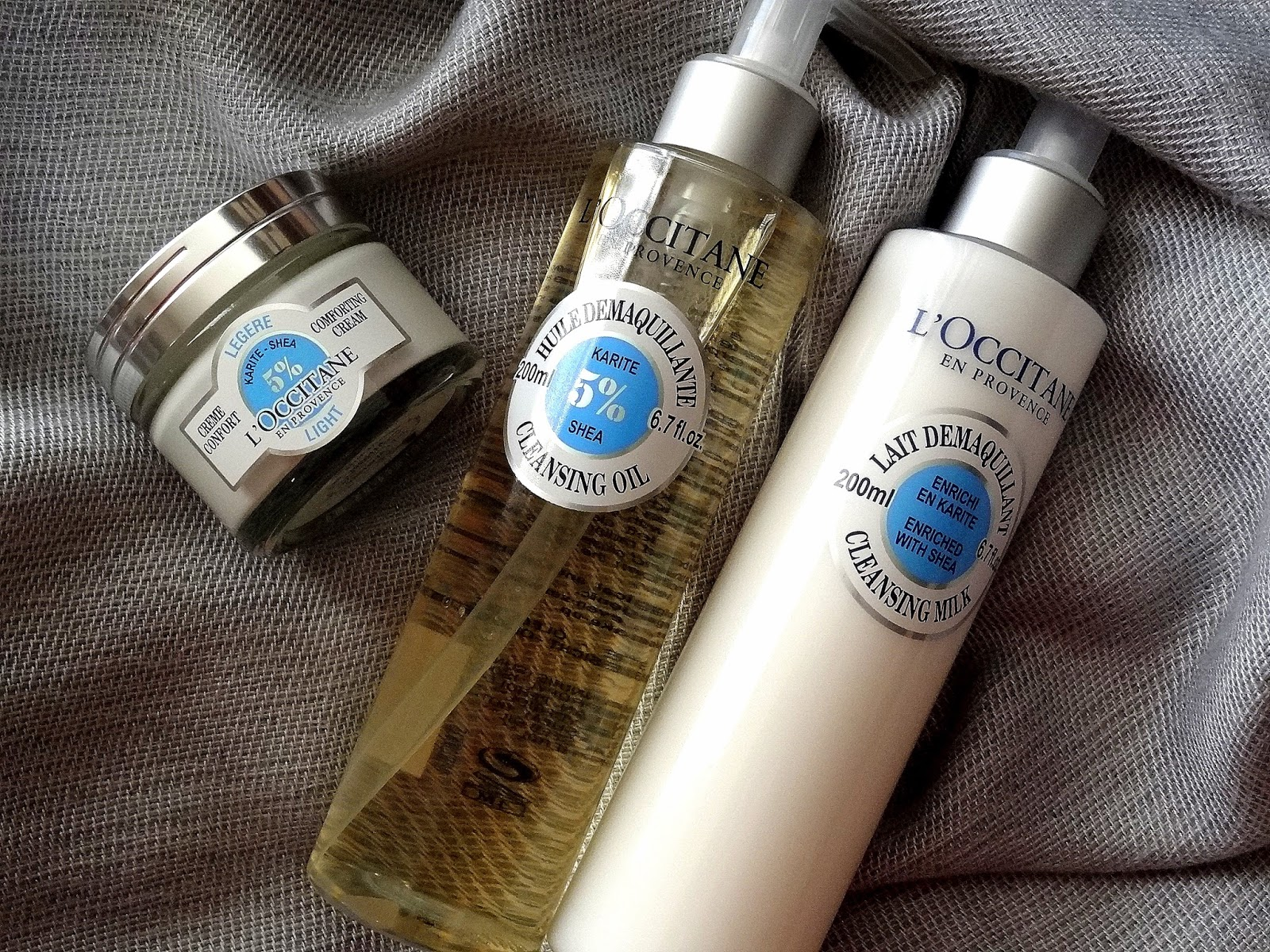 L'Occitane Shea Butter Comforting Skincare Collection | Cleansing Milk, Cleansing Oil and Light Comforting Cream