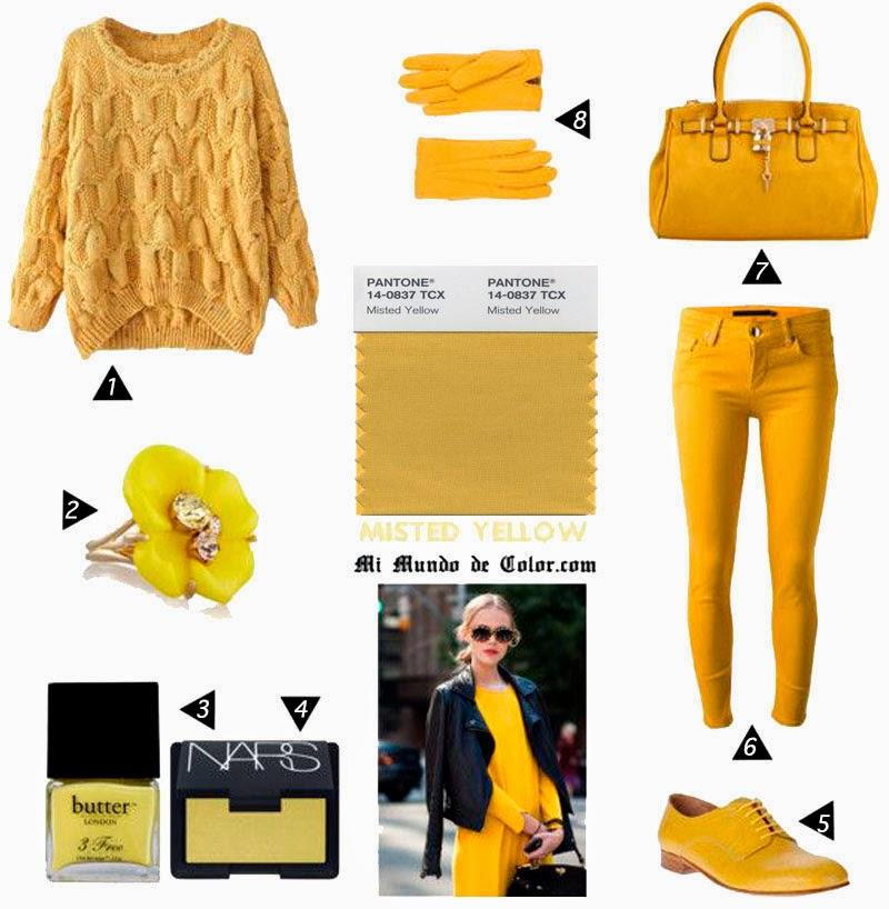 color amarillo empañado de otoño 2014 pantone