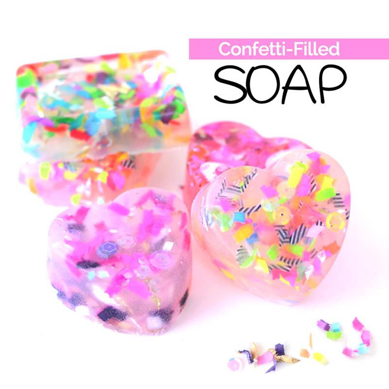 The Confetti Bar; confetti soap