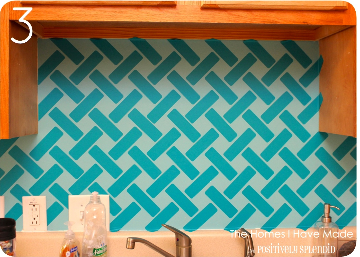 Vinyl tiles for backsplash
