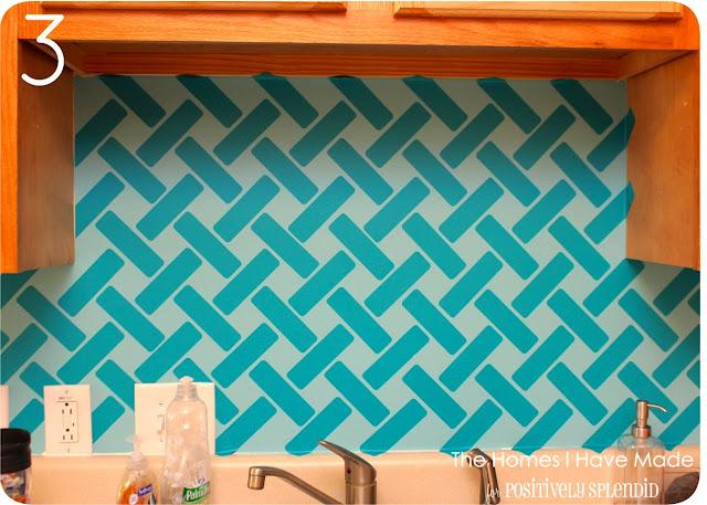Vinyl tile backsplash pictures