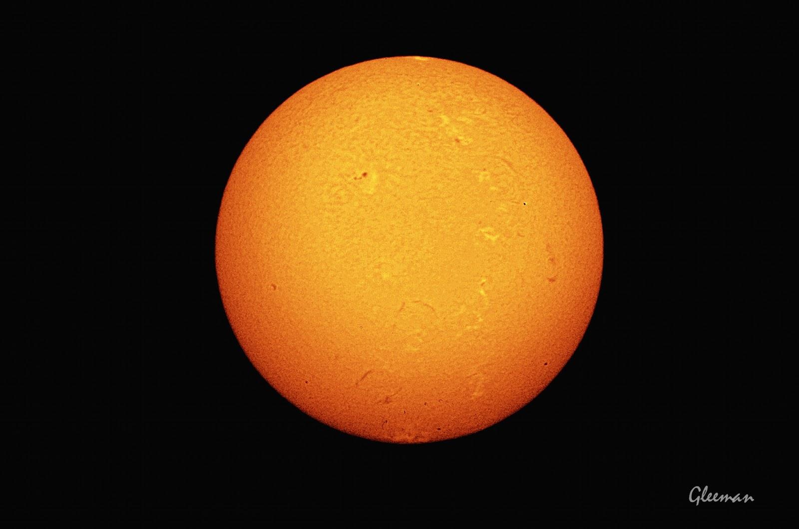 太陽 H-Alpha 擴大攝影, 黑白轉偽色
