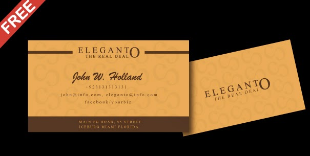 free elegant business card