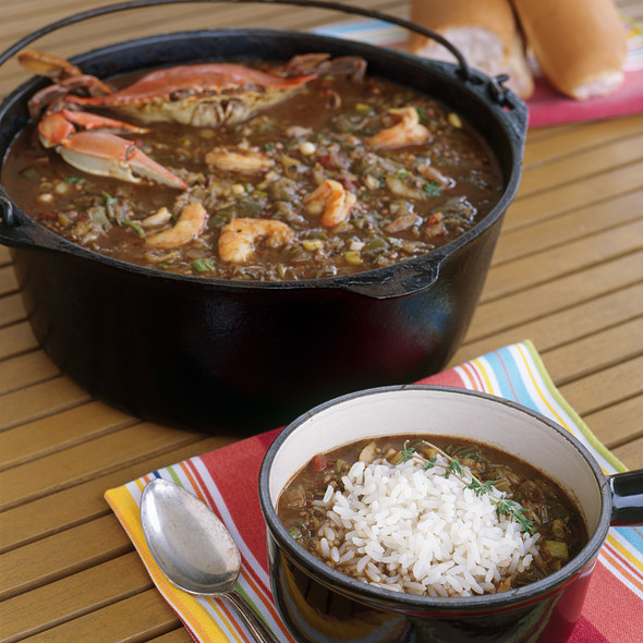 Seafood gumbo @Lulu's at Homeport Marina