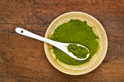 Powdered wheatgrass