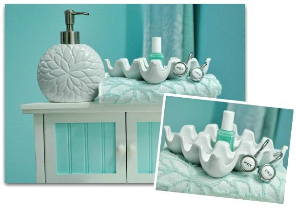 Tiffany Blue Bathroom Designs : Bathroom at Tiffanys - Peas And Crayons