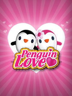 Screenshots of the Penguin love for java mobile, phone.