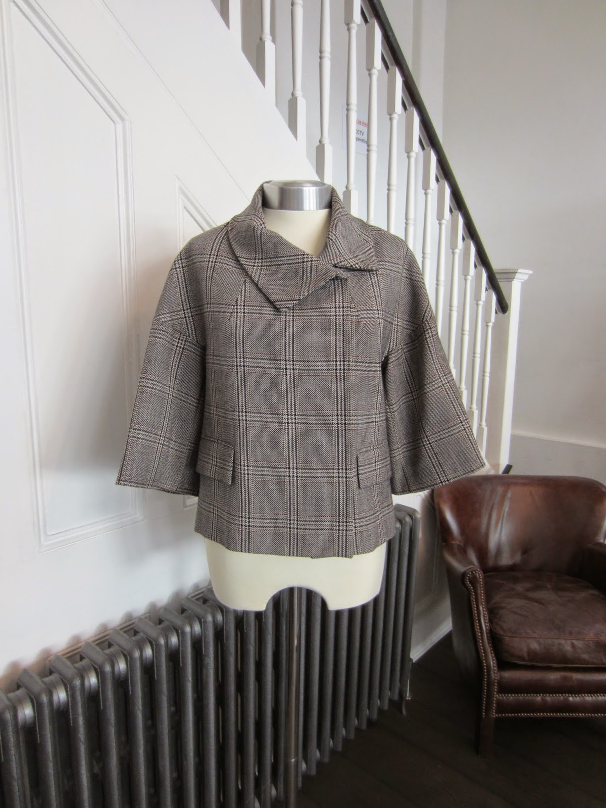 Farhi Black/Brown/White Checked Jacket