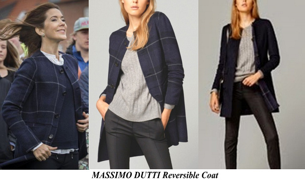 Princess Mary's MASSIMO DUTTI Reversible Coat