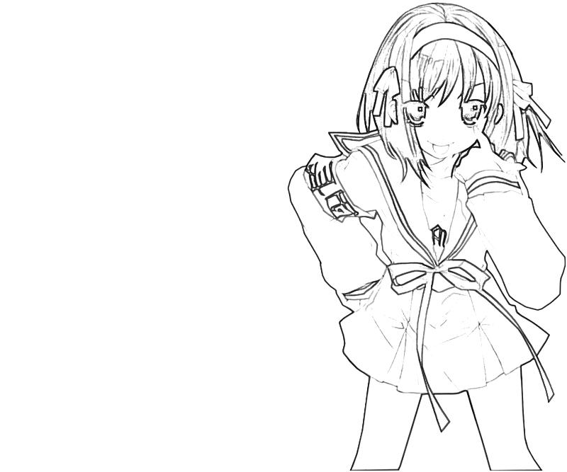 printable-suzumiya-haruhi-look-coloring-pages