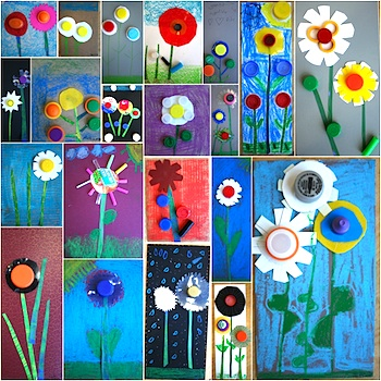 Kids Flower Art 050912