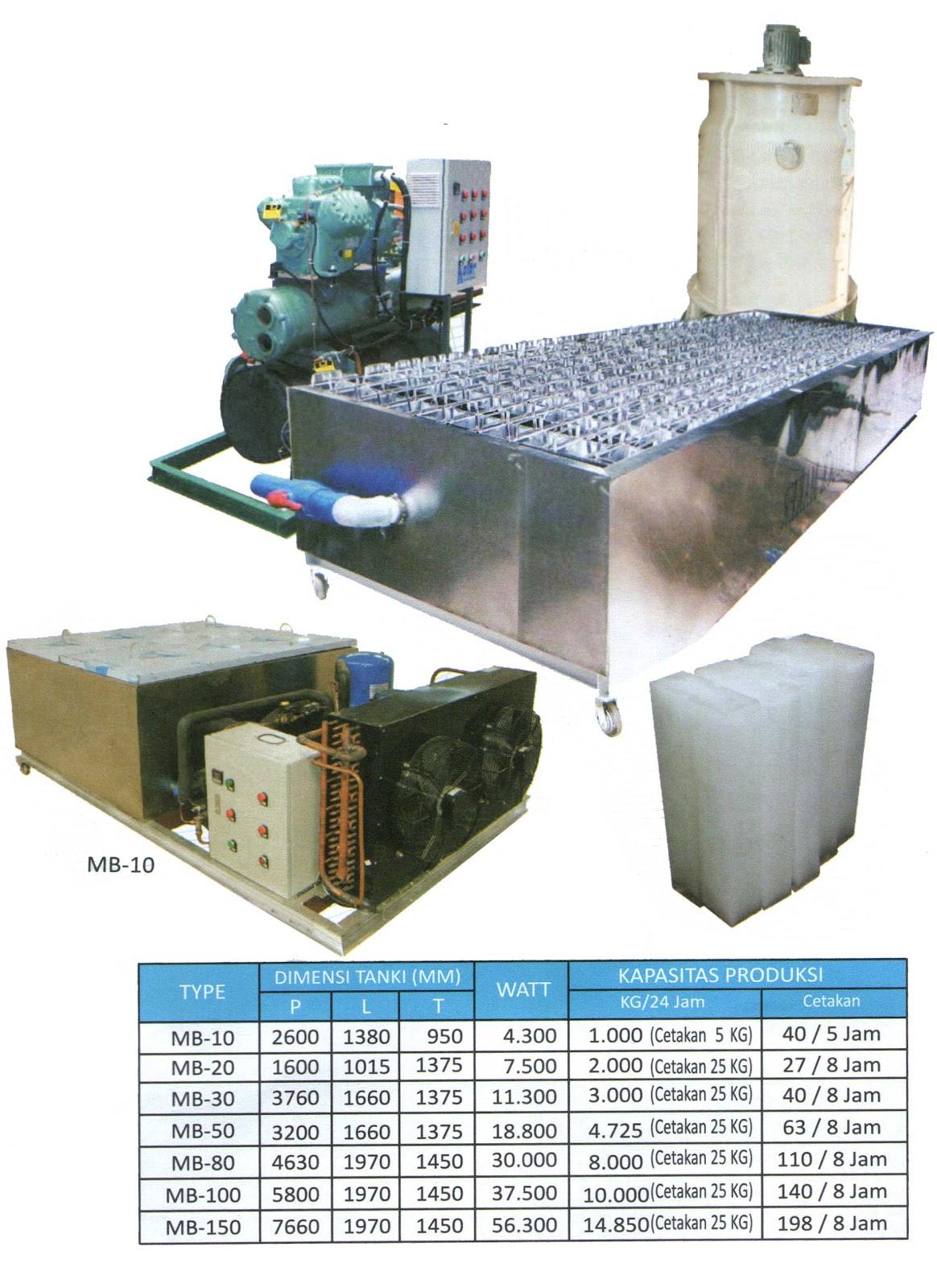 Commercial Ice Block Machine Mesin Pendingin